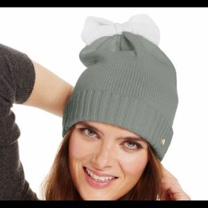 Kate Spade Colorblock bow cuff hat beanie